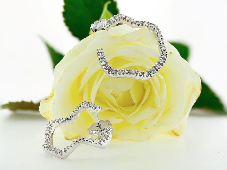 Náušnice s diamanty